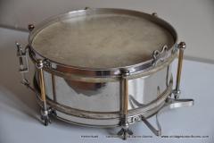 Sonor marschtrommel 1930-1950 nikkel 31,5 cm. 6 lugs (1)