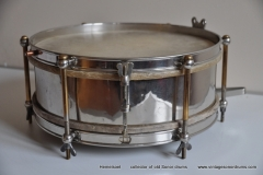 Sonor marschtrommel 1930-1950 nikkel 31,5 cm. 6 lugs (13)