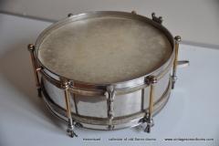 Sonor marschtrommel 1930-1950 nikkel 31,5 cm. 6 lugs (7)