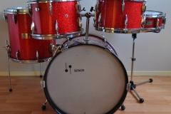 016 Sonor set teardrop red sparkle 1965 (2)