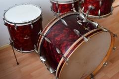 03 Sonor set 50ties 70 cm. perloïd Rubin rot (1)