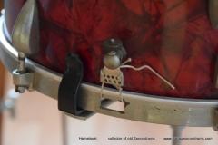 03 Sonor set 50ties 70 cm. perloïd Rubin rot (17)