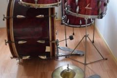 03 Sonor set 50ties 70 cm. perloïd Rubin rot (4)