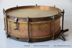 04 Sonor snare Joh. Link 1920-1930 messing triangel logo (1)