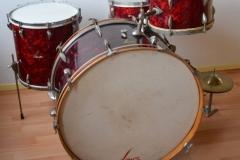 03 Sonor set 50ties 70 cm. perloïd Rubin rot (2)