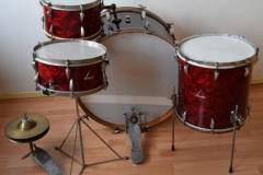03 Sonor set 50ties 70 cm. perloïd Rubin rot (5)
