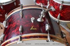 03 Sonor set 50ties 70 cm. perloïd Rubin rot (6)